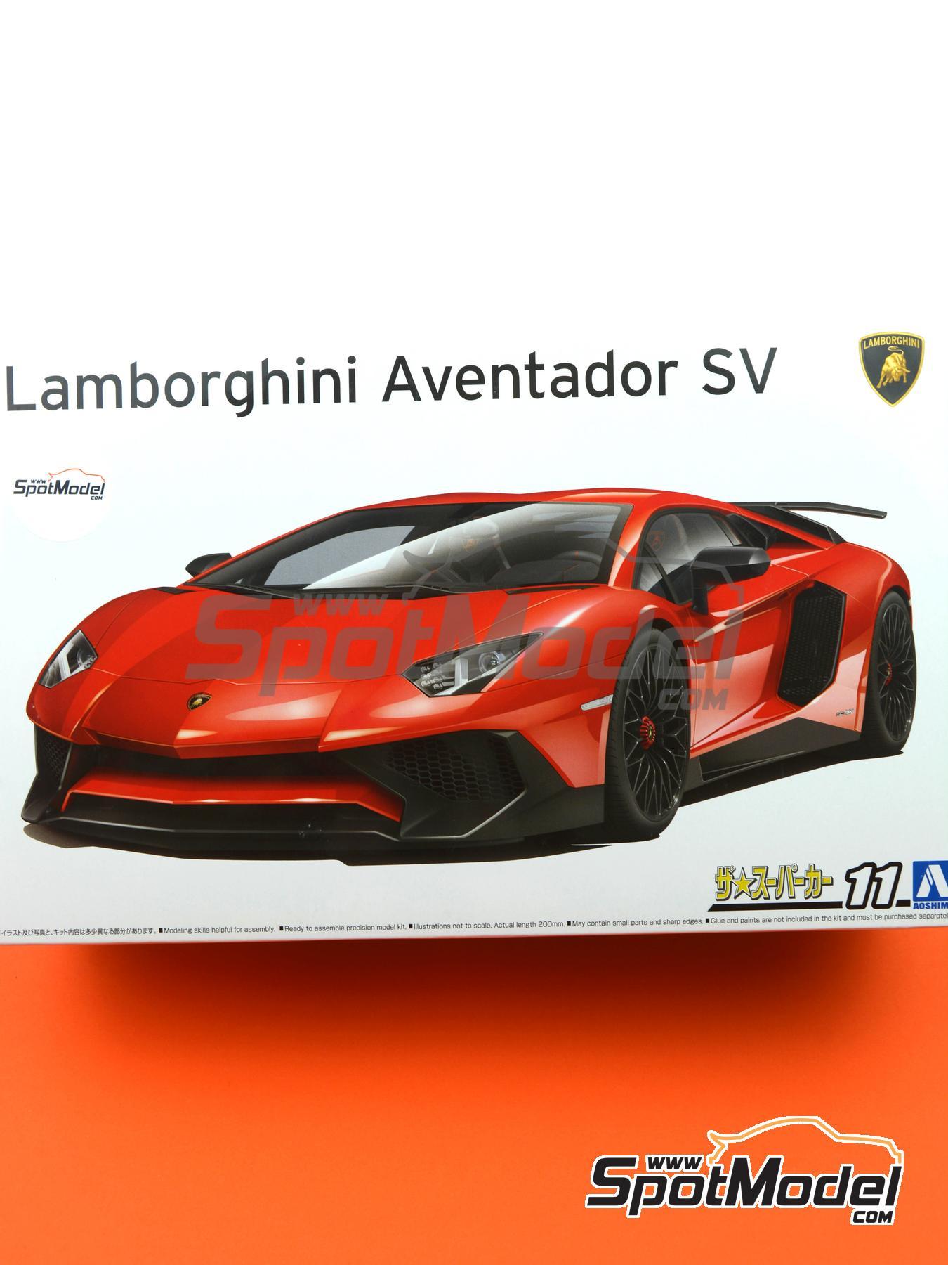 Lamborghini Aventador LP750-4 SV | Maqueta de coche en escala1/24 fabricado por Aoshima (ref.05121) image