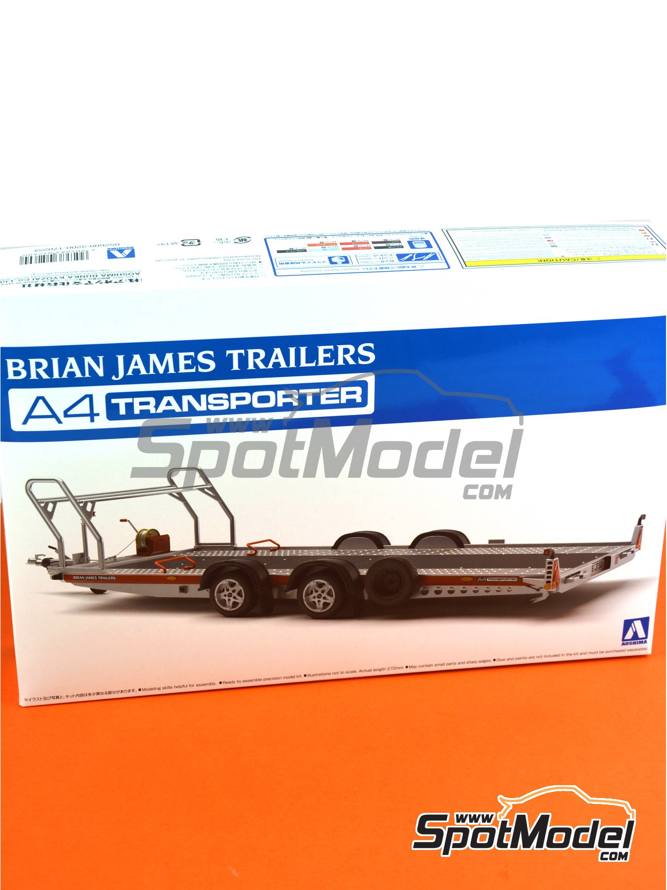 Brian James Trailers A4 transporter | Model kit in 1/24 scale manufactured by Aoshima (ref. 05260) image