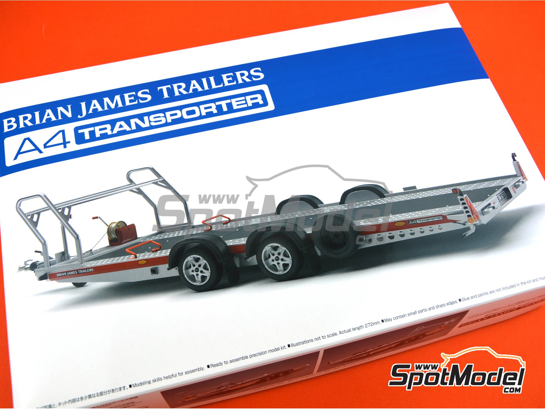 Image 11: Brian James Trailers A4 transporter | Model kit in 1/24 scale manufactured by Aoshima (ref. 05260)