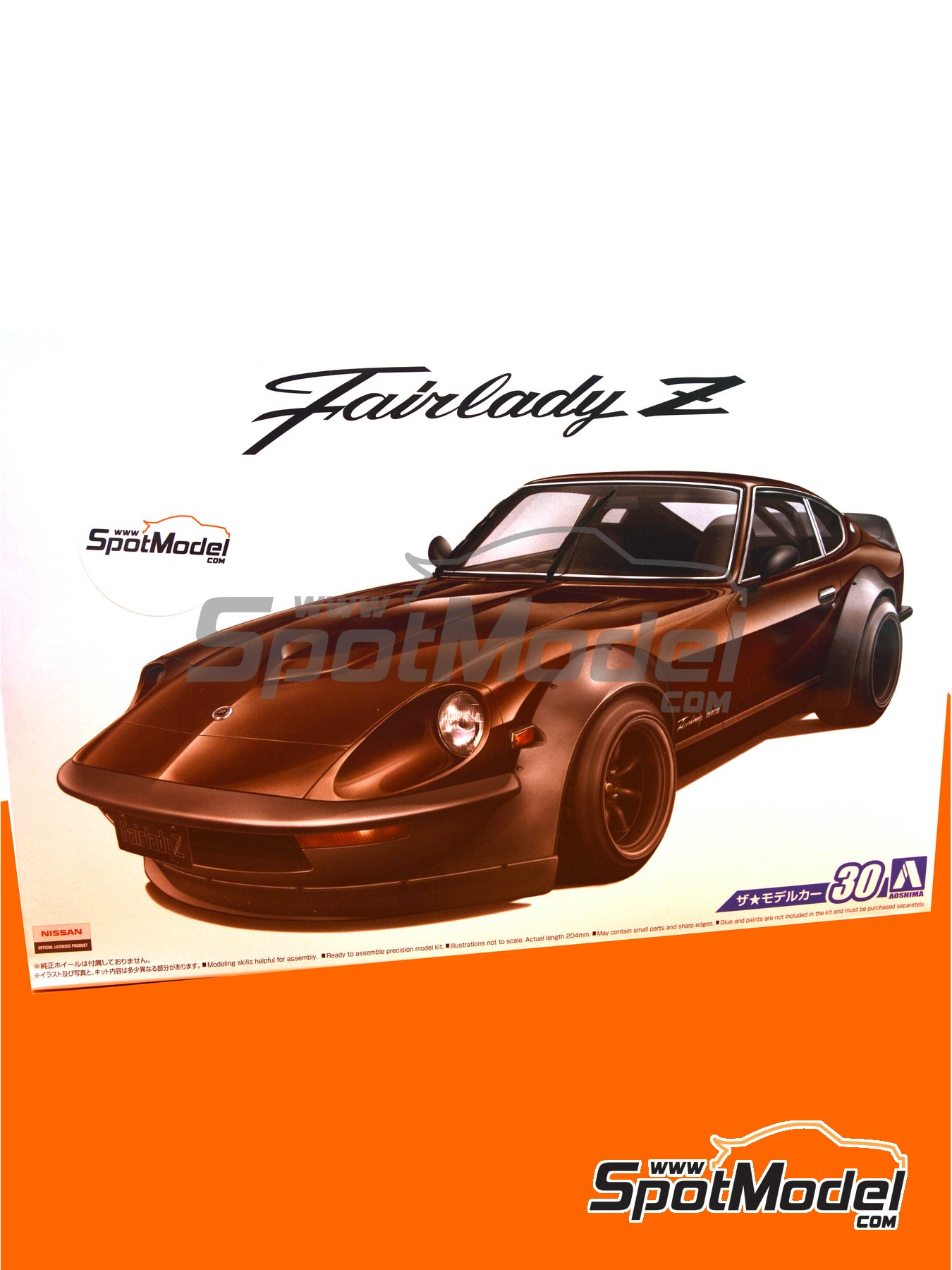 Nissan Fairlady Z S30 Aerocustom | Model car kit in 1/24 scale manufactured by Aoshima (ref. 05305) image