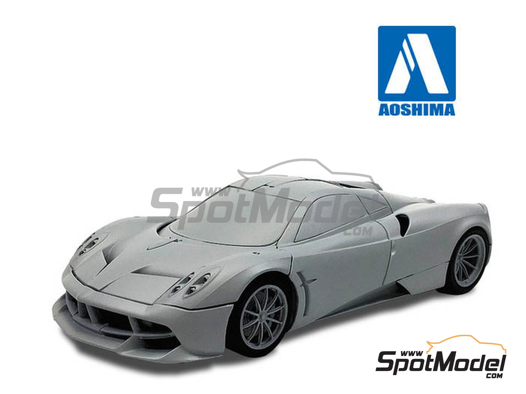 Image 1: Pagani Huayra Pacchetto Tempesta | Model car kit in 1/24 scale manufactured by Aoshima (ref. 05599)