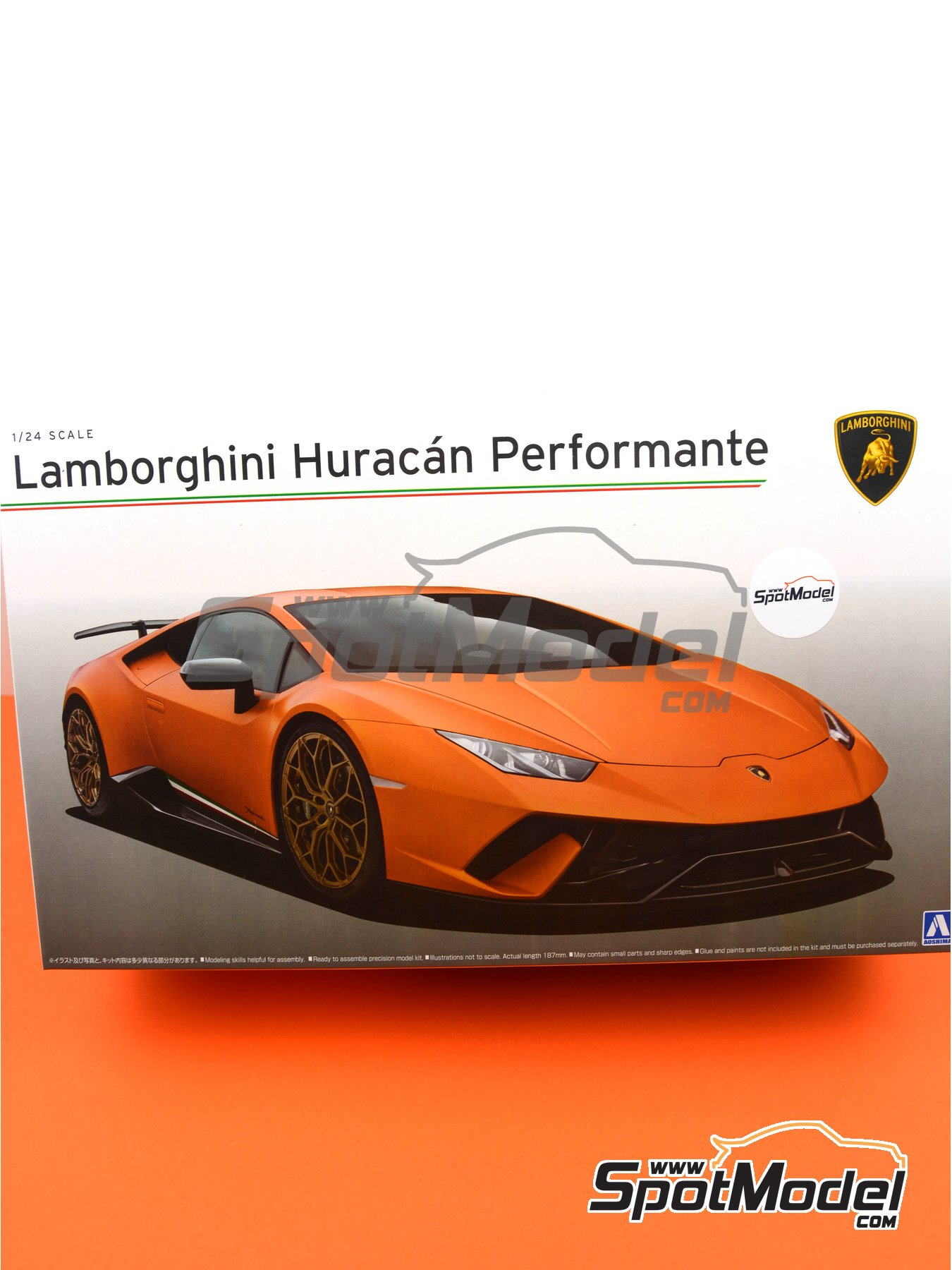Lamborghini Huracan Performante | Maqueta de coche en escala1/24 fabricado por Aoshima (ref.05600, tambien AOS05600 y 56004) image