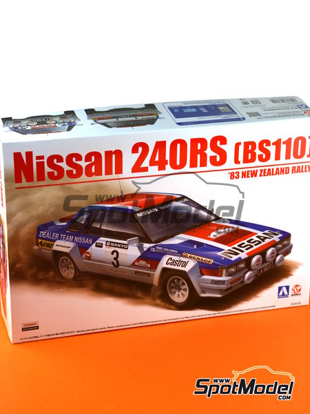 Nissan 240RS BS110 - New Zealand rally 1983 | Model car kit in 1/24 scale manufactured by Aoshima (ref. 08579) image