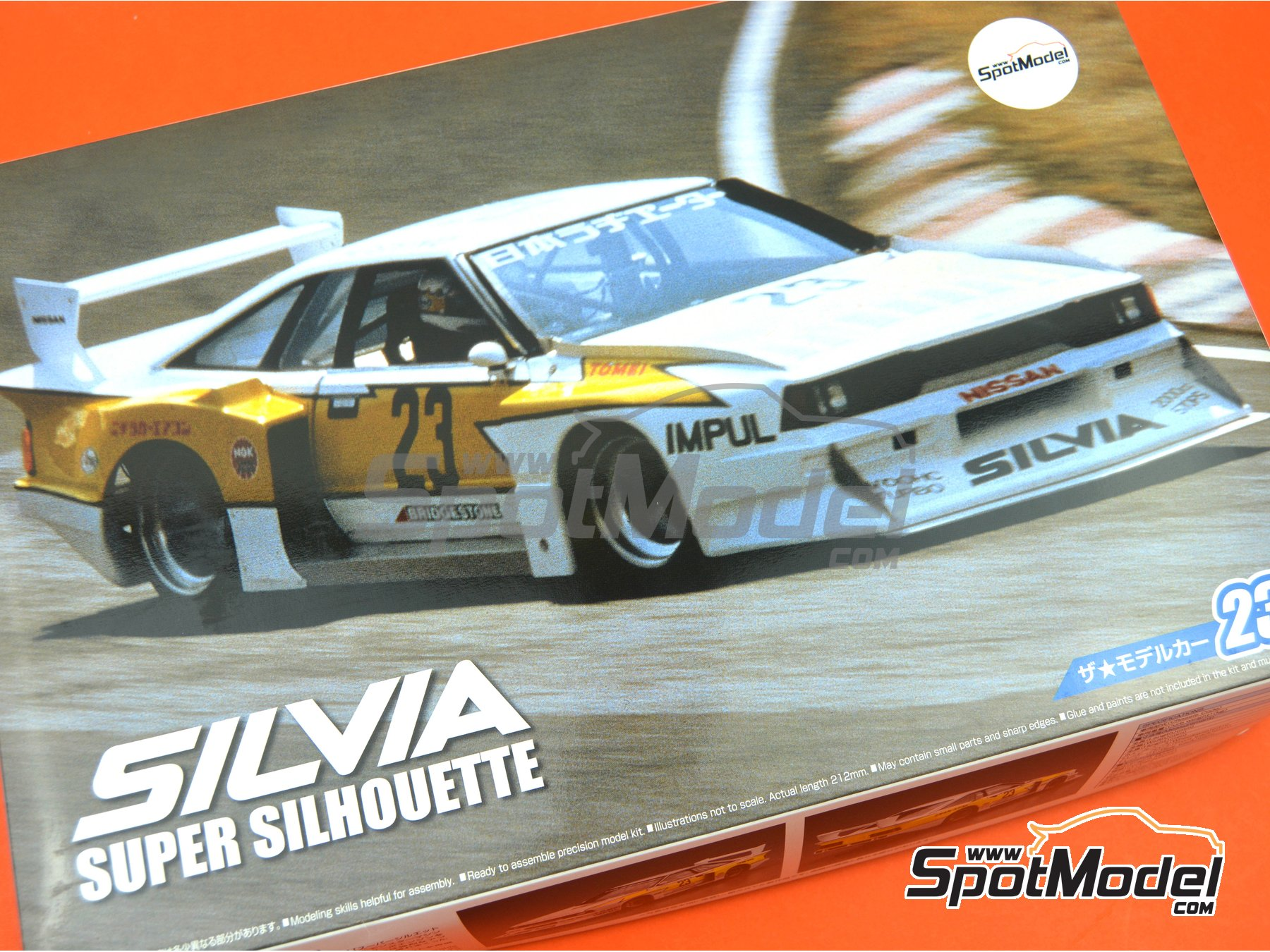 Image 13: Nissan KS110 Silvia - Super Silhouette Series 1982 | Model car kit in 1/24 scale manufactured by Aoshima (ref.4905083052303, also 05230, 23, 4905083-052303, AOS05230 and 52303)