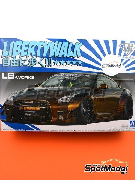 Liberty Walk LB Works Nissan R35 GT-R Type 2 Ver. 1   Maqueta de coche en escala1/24 fabricado por Aoshima (ref.55915, tambien 05591) image