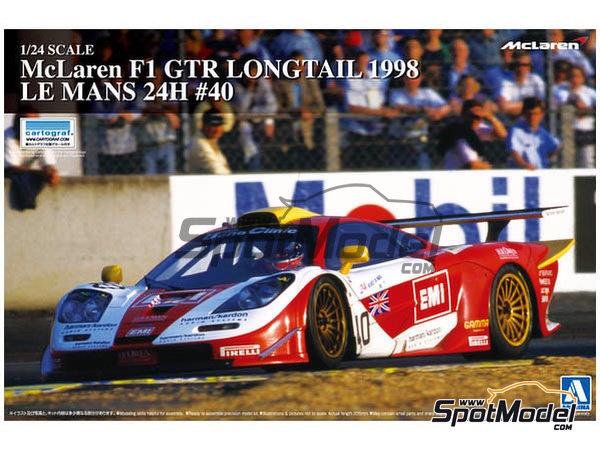 Image 1: McLaren F1 GTR Long Tail EMI Ueno Clinic - 24 Horas de Le Mans 1998 | Maqueta de coche en escala1/24 fabricado por Aoshima (ref.AOS01418)