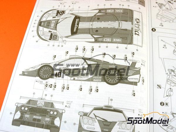 Image 16: McLaren F1 GTR Long Tail EMI Ueno Clinic - 24 Horas de Le Mans 1998 | Maqueta de coche en escala1/24 fabricado por Aoshima (ref.AOS01418)