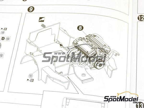 Image 17: McLaren F1 GTR Long Tail EMI Ueno Clinic - 24 Horas de Le Mans 1998 | Maqueta de coche en escala1/24 fabricado por Aoshima (ref.AOS01418)