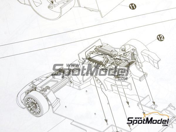 Image 18: McLaren F1 GTR Long Tail EMI Ueno Clinic - 24 Horas de Le Mans 1998 | Maqueta de coche en escala1/24 fabricado por Aoshima (ref.AOS01418)