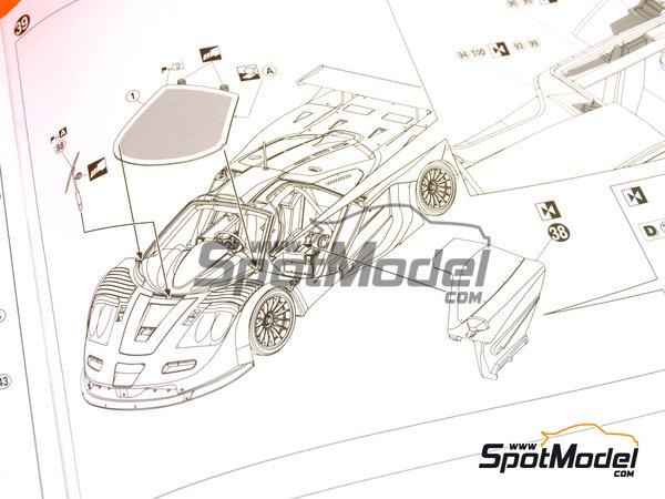 Image 20: McLaren F1 GTR Long Tail EMI Ueno Clinic - 24 Horas de Le Mans 1998 | Maqueta de coche en escala1/24 fabricado por Aoshima (ref.AOS01418)