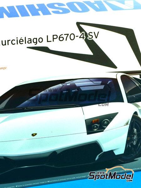 Lamborghini Murcielago LP670-4 SV SuperVeloce | Maqueta de coche en escala1/24 fabricado por Aoshima (ref.AOSH-007082) image