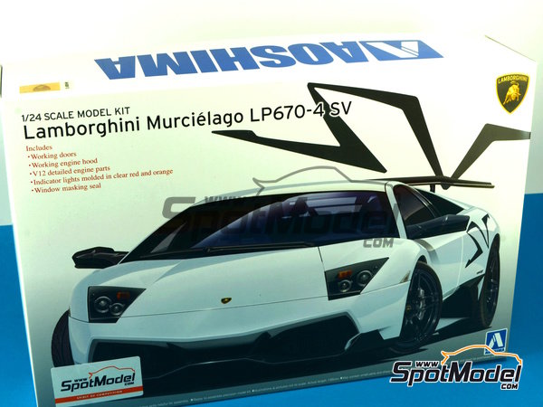 Image 1: Lamborghini Murcielago LP670-4 SV SuperVeloce | Maqueta de coche en escala1/24 fabricado por Aoshima (ref.AOSH-007082)