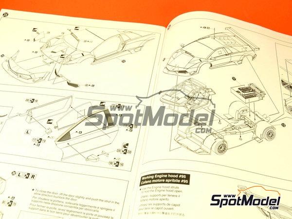 Image 5: Lamborghini Murcielago R-SV Blancpain - SPA Francorchamps 2010   Model car kit in 1/24 scale manufactured by Aoshima (ref.AOSH-00717)