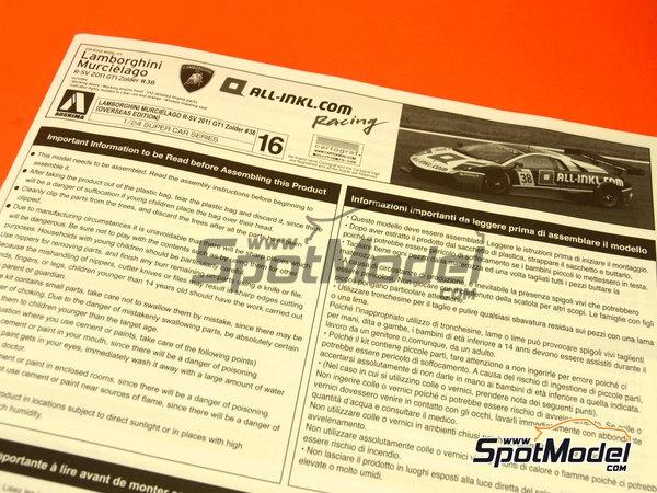 Image 1: Lamborghini Murcielago R-SV All Inkl - Zolder DRM 2011 | Maqueta de coche en escala1/24 fabricado por Aoshima (ref.AOSH-00718)
