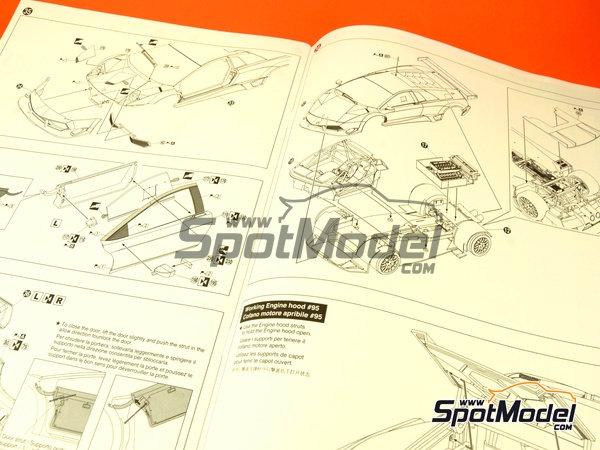 Image 5: Lamborghini Murcielago R-SV All Inkl - Zolder DRM 2011 | Maqueta de coche en escala1/24 fabricado por Aoshima (ref.AOSH-00718)