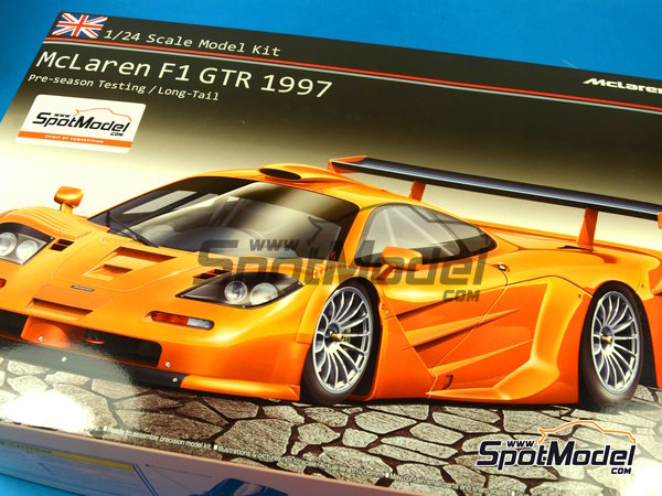 Image 20: McLaren F1 GTR Long Tail - Test version 1997 | Model car kit in 1/24 scale manufactured by Aoshima (ref. AOSH-00749)