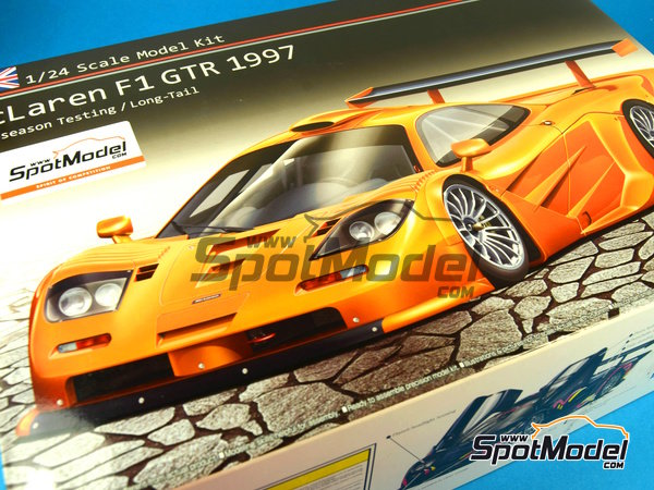 Image 21: McLaren F1 GTR Long Tail - Test version 1997 | Model car kit in 1/24 scale manufactured by Aoshima (ref. AOSH-00749)