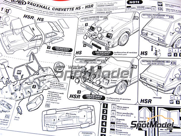 Image 8: Vauxhall Chevette HS -  1978 | Model car kit in 1/43 scale manufactured by Arena (ref. ARE303)