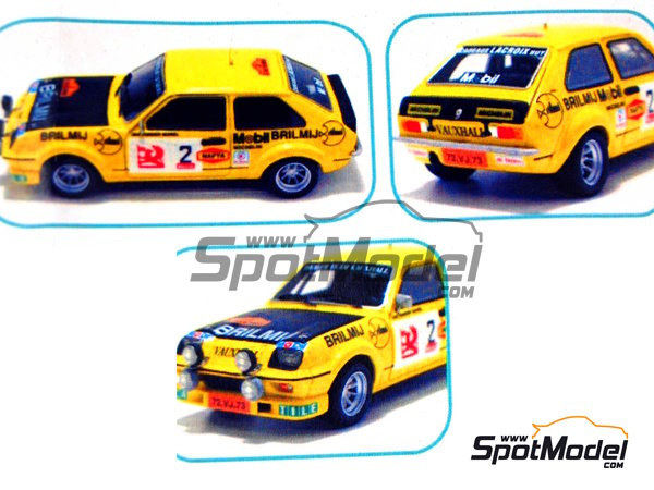 Image 9: Vauxhall Chevette HS -  1978 | Model car kit in 1/43 scale manufactured by Arena (ref. ARE303)