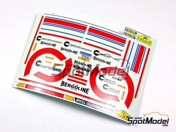 Image 10: Porsche 911 Carrera 2.7 RS Team Boldrinauto - Rally Prealpino Venette 1977 | Model car kit in 1/43 scale manufactured by Arena (ref.ARE526)