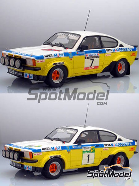 Opel Kadett GTE 2000 Group 2 Mobil1 - Elba Rally 1978 | Model car kit in 1/24 scale manufactured by Arena (ref.ARE551-24) image