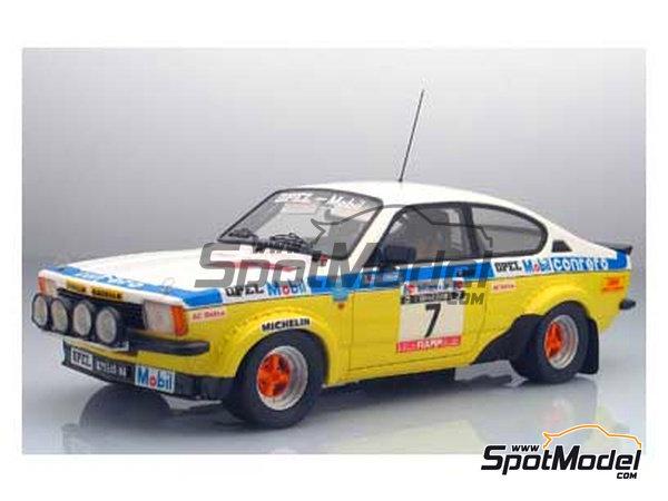 Image 1: Opel Kadett GTE 2000 Grupo 2 Mobil1 - Rally Elba 1978 | Maqueta de coche en escala1/24 fabricado por Arena (ref.ARE551-24)