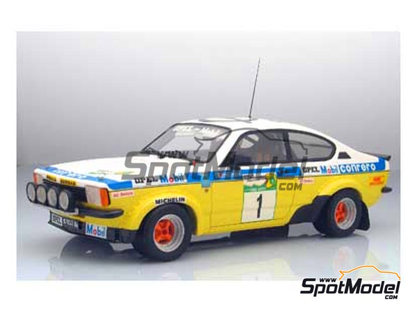 Image 2: Opel Kadett GTE 2000 Group 2 Mobil1 - Elba Rally 1978 | Model car kit in 1/24 scale manufactured by Arena (ref.ARE551-24)