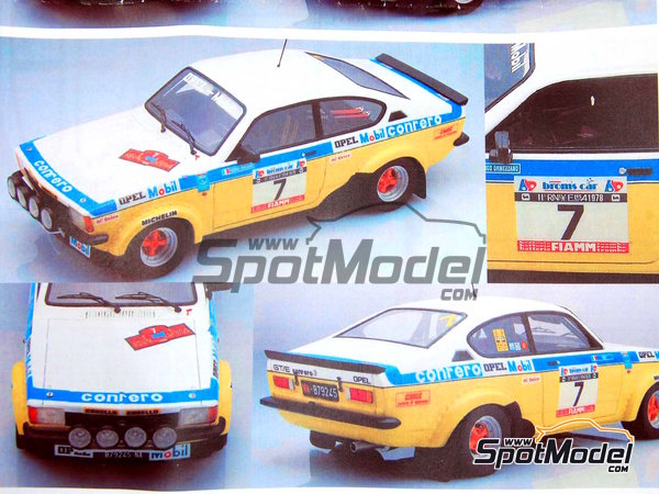 Image 3: Opel Kadett GTE 2000 Group 2 Mobil1 - Elba Rally 1978 | Model car kit in 1/24 scale manufactured by Arena (ref.ARE551-24)