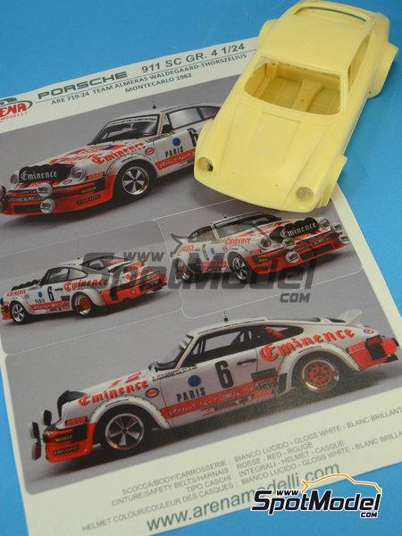 Porsche 911SC Grupo 4 Eminence - Rally de Montecarlo 1982 | Maqueta de coche en escala1/24 fabricado por Arena (ref.ARE719-24) image