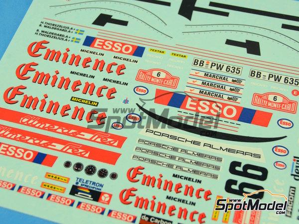 Image 16: Porsche 911SC Grupo 4 Eminence - Rally de Montecarlo 1982 | Maqueta de coche en escala1/24 fabricado por Arena (ref.ARE719-24)