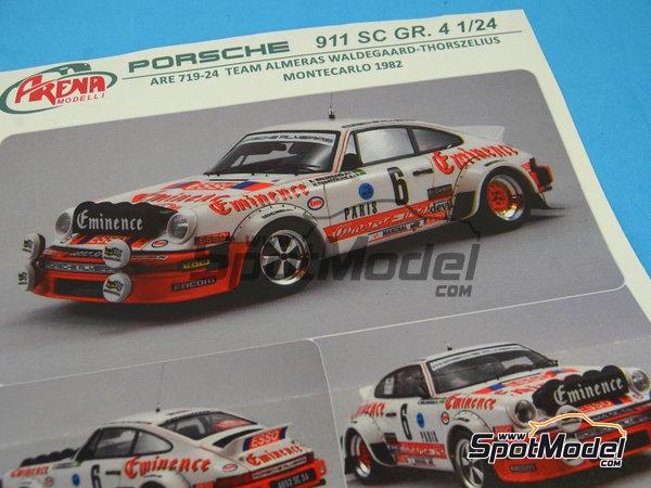 Image 17: Porsche 911SC Grupo 4 Eminence - Rally de Montecarlo 1982 | Maqueta de coche en escala1/24 fabricado por Arena (ref.ARE719-24)