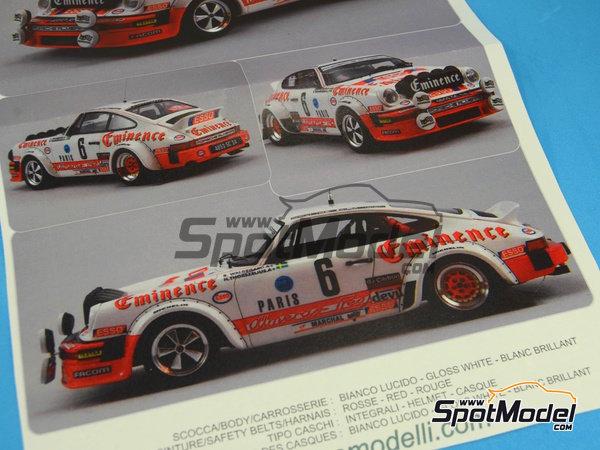 Image 18: Porsche 911SC Grupo 4 Eminence - Rally de Montecarlo 1982 | Maqueta de coche en escala1/24 fabricado por Arena (ref.ARE719-24)