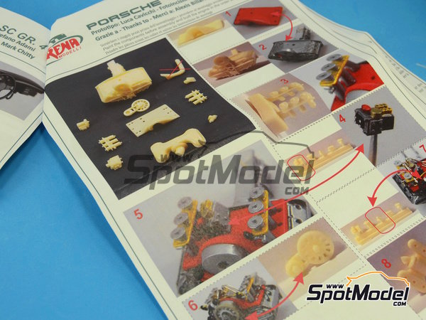 Image 2: Porsche 911SC Group 4 Ricard - Mile Miglia 1981 | Model car kit in 1/24 scale manufactured by Arena (ref.ARE720-24)