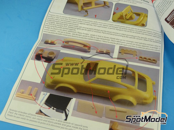 Image 4: Porsche 911SC Group 4 Ricard - Mile Miglia 1981 | Model car kit in 1/24 scale manufactured by Arena (ref.ARE720-24)