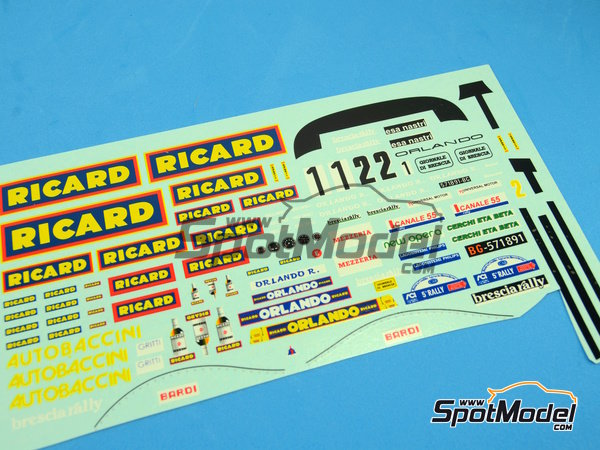 Image 15: Porsche 911SC Group 4 Ricard - Mile Miglia 1981 | Model car kit in 1/24 scale manufactured by Arena (ref.ARE720-24)