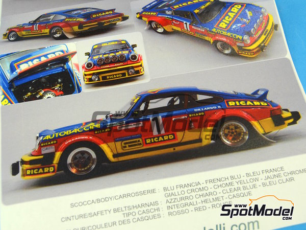 Image 19: Porsche 911SC Group 4 Ricard - Mile Miglia 1981 | Model car kit in 1/24 scale manufactured by Arena (ref.ARE720-24)