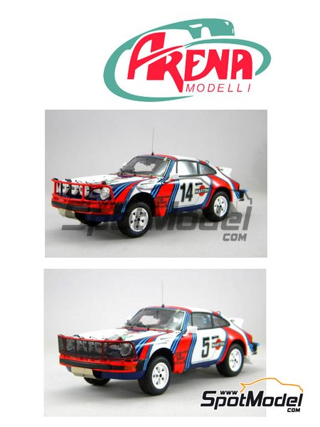 Porsche 911SC Martini Racing - Safari Rally 1978 | Model car kit in 1/24 scale manufactured by Arena (ref. ARE861-24) image