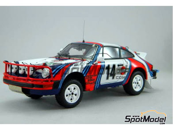 Image 1: Porsche 911SC Martini Racing - Safari Rally 1978 | Model car kit in 1/24 scale manufactured by Arena (ref. ARE861-24)