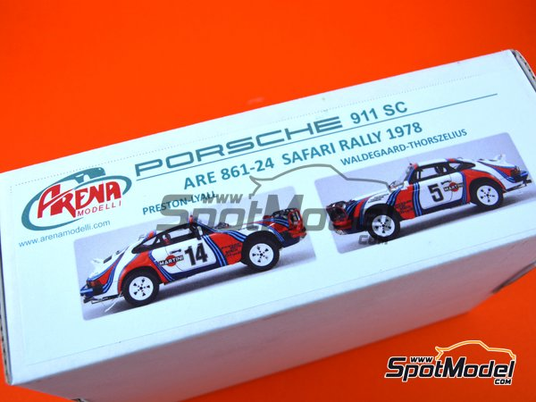 Image 15: Porsche 911SC Martini Racing - Safari Rally 1978 | Model car kit in 1/24 scale manufactured by Arena (ref. ARE861-24)