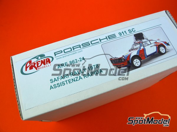 Image 2: Porsche 911SC Martini Racing - Rally Safari 1978 | Maqueta de coche en escala 1/24 fabricado por Arena (ref. ARE862-24)