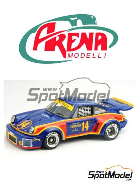 Porsche Carrera RSR Penthouse - 12 horas de Sebring, 24 Horas de Daytona, 5 horas de Mid Ohio 1974 y 1976 | Maqueta de coche en escala1/24 fabricado por Arena (ref.ARE900-24) image