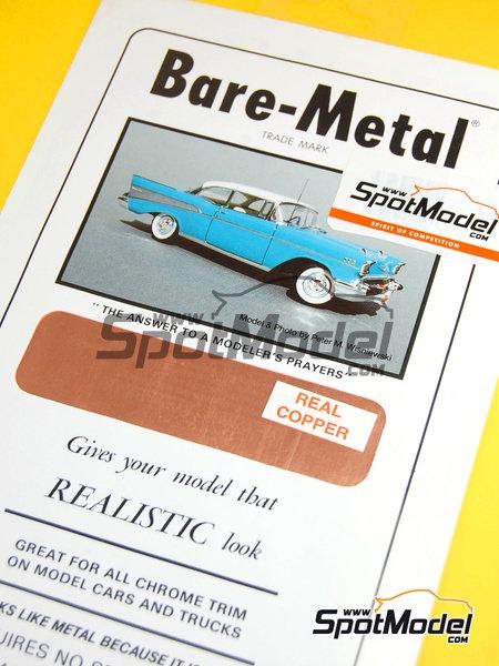 Cobre - Real Cooper - 16 x 60 cm   Material fabricado por Bare Metal Foil Co (ref.BMF-00017) image