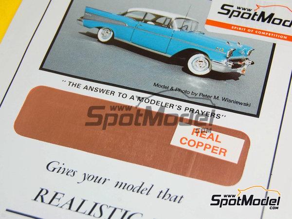 Image 1: Cobre - Real Cooper - 16 x 60 cm   Material fabricado por Bare Metal Foil Co (ref.BMF-00017)