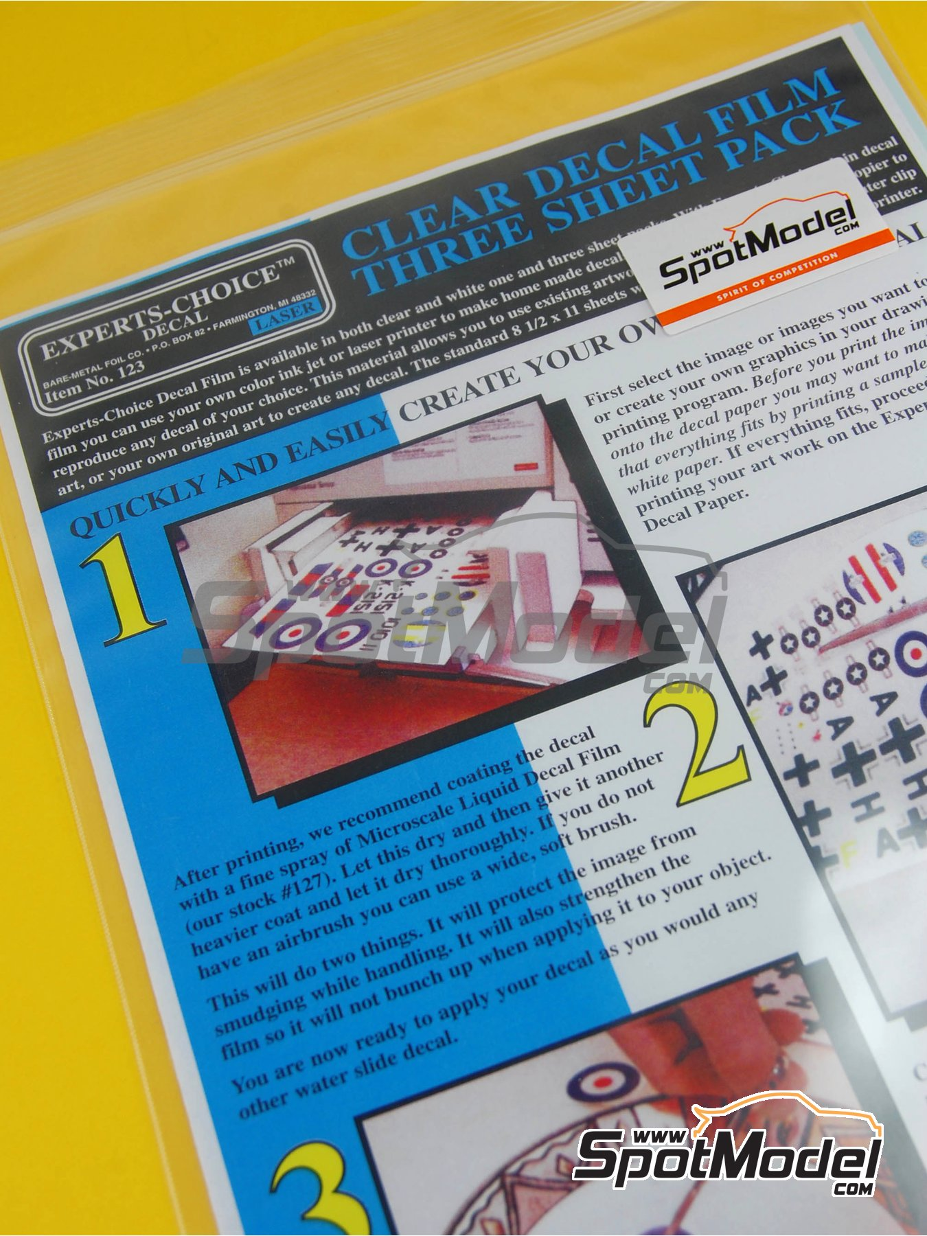 Clear laser decal film - 27x20 cm | Decals manufactured by Bare Metal Foil Co (ref.BMF-00123) image