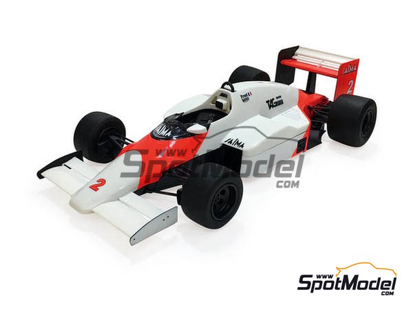 Image 2: McLaren MP4/2B TAG Porsche Marlboro - Monaco Formula 1 Grand Prix 1985 | Model car kit in 1/20 scale manufactured by Beemax Model Kits (ref.B20002, also Aoshima 081914)