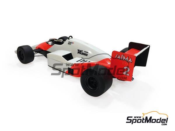 Image 3: McLaren MP4/2B TAG Porsche Marlboro - Monaco Formula 1 Grand Prix 1985 | Model car kit in 1/20 scale manufactured by Beemax Model Kits (ref.B20002, also Aoshima 081914)