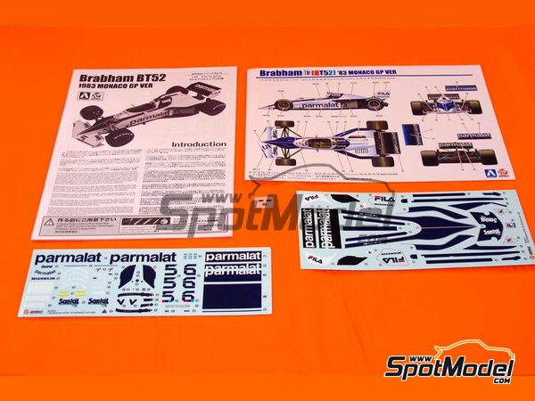 Image 4: Brabham BMW BT52 Parmalat - FIA Formula 1 World Championship 1983 | Model car kit in 1/20 scale manufactured by Beemax Model Kits (ref. B20003)