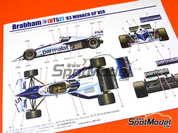 Image 7: Brabham BMW BT52 Parmalat - FIA Formula 1 World Championship 1983 | Model car kit in 1/20 scale manufactured by Beemax Model Kits (ref. B20003)
