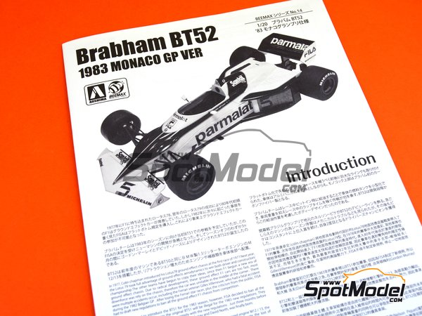 Image 13: Brabham BMW BT52 Parmalat - FIA Formula 1 World Championship 1983 | Model car kit in 1/20 scale manufactured by Beemax Model Kits (ref. B20003)