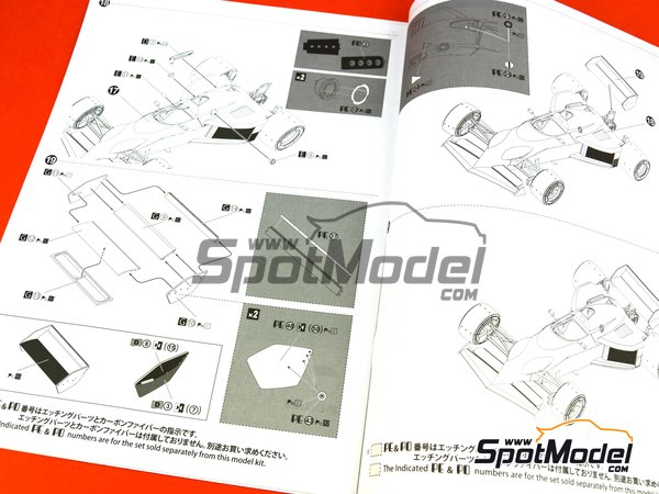 Image 16: Brabham BMW BT52 Parmalat - FIA Formula 1 World Championship 1983 | Model car kit in 1/20 scale manufactured by Beemax Model Kits (ref. B20003)